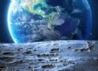 La luna e la Terra.