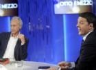 Il direttore del Fatto Quotidiano Marco Travaglio e il presidente del Consiglio Matteo Renzi a Otto e Mezzo.