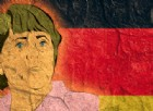 Un murales con l'immagine di Angela Merkel, regina indiscussa di questa Europa unita