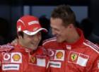 Felipe Massa e Michael Schumacher ai tempi della Ferrari