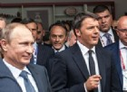 Il presidente russo Vladimir Putin con il premier italiano Matteo Renzi.