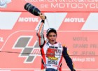 Marc Marquez sul gradino più alto del podio a Motegi