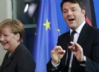 La cancelliera Angela Merkel con il premier Matteo Renzi.