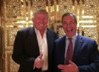 Il presidente eletto Donald Trump e il leader dell'Ukip Nigel Farage.