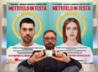 """Il preservativo diventa un'aureola nella Campagna contro l'Aids di Viotti """"Mettitelo in testa"""". Il PD insorge, la Chiesa no"""