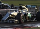 Lewis Hamilton davanti a Nico Rosberg ad Abu Dhabi