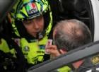 Valentino Rossi nell'abitacolo della sua Ford Fiesta