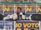 Matteo Salvini ha convocato una conferenza stampa per festeggiare la vittoria del No al referendum costituzionale, poco dopo quella del presidente del Consiglio in cui ha annunciato le sue dimissioni