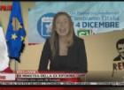 Al Tg Porco di Piazzapulita su La7 condotto da Corrado Formigli Sabina Guzzanti ha vestito i panni di Lucia Annunziata che intervista l'ex ministra, Maria Elena Boschi, sul post referendum.