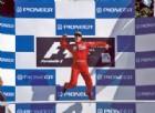 Michael Schumacher in festa ai tempi delle vittorie con la Ferrari