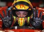 Valentino Rossi al volante della Ferrari F2008