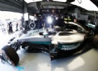 La Mercedes di Nico Rosberg ai box