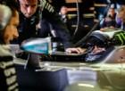 Jorge Lorenzo al volante della Mercedes durante il test di Silverstone