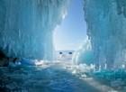Una giostra sul lago ghiacciato in Finla