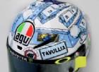 Ai test di Sepang un casco invernale e innevato per Valentino Rossi