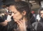 Veronica Padoan, figlia del ministro dell'Economia, Pier Carlo, alla guida di una protesta di profughi a San Ferdinando a Rosarno