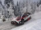 Jari-Matti Latvala in azione sullla sua Toyota al Rally di Svezia