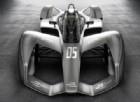 Un'immagine frontale di anticipazione della vettura di Formula E 2018