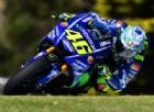Valentino Rossi in azione sulla Yamaha nei test di Phillip Island