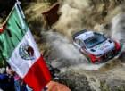 Thierry Neuville in azione sulla sua Hyundai nel Rally del Messico