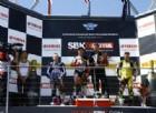 Roberto Rolfo sul gradino più alto del podio della Supersport a Phillip Island