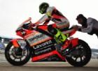 Lorenzo Baldassarri nella pit lane della pista di Jerez