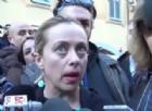 La fondatrice di Fratelli d'Italia, Giorgia Meloni, a margine dell'incontro Verso le primarie del centro-destra, a Roma