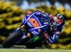 Maverick Vinales in azione sulla Yamaha nei test di Phillip Island