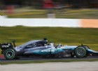 Valtteri Bottas in azione sulla Mercedes W08 nei test di Barcellona