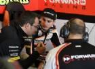 Lorenzo Baldassarri ai box a Jerez