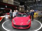 La nuova Ferrari 812 Superfast svelata nello stand al Salone di Ginevra