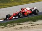 Kimi Raikkonen in azione sulla nuova Ferrari SF70H nei test di oggi a Barcellona