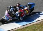 Alex Marquez in azione nei test della Moto2 a Jerez de la Frontera