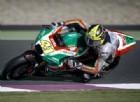 Aleix Espargaro in azione con la RS-GP nel test di Losail