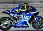 Andrea Iannone in azione sulla Suzuki nei test di Losail