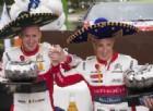 Kris Meeke sul gradino più alto del podio del Rally del Messico