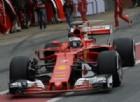 Kimi Raikkonen nella corsia dei box di Barcellona
