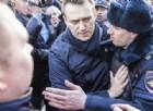 Russia, arrestate 600 persone durante manifestazione non autorizzata