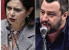Salvini-Boldrini, scontro in Rete e il leader della Lega attacca: «E' una fake news vivente»