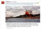 Cascate rosso sangue in Antartide: svelata l'origine del fenomeno