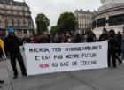 Alcuni momenti del corteo contro le politiche del presidente eletto Macron, Parigi, 8 maggio 2017. Alcune migliaia di persone si sono radunate in place de la République, rispondendo all'appello del collettivo Front Social