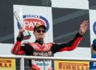 Donington amara per la Ducati, resta solo il terzo posto di Chaz Davies
