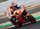 Honda a due velocità: Pedrosa vola, Marquez cade