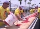 La California scippa il Guinnes a Napoli con una pizza da oltre 2 km
