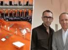 Gildo Zegna con Alessandro Sartori (a destra) e la sfilata
