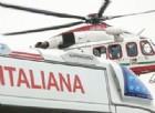 L'elicottero ha trasportato la ragazza all'ospedale di Ciriè