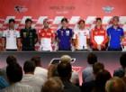 I protagonisti della MotoGP in conferenza stampa ad Assen: Crutchlow, Zarco, Dovizioso, Vinales, Marquez, Lorenzo e Rins