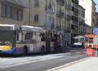 L'autobus, una volta domate le fiamme