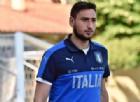 Gigio Donnarumma nel ritiro dell'Under 21