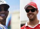 Lewis Hamilton e Sebastian Vettel a Baku